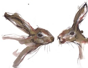 Hares by Laura Fleming.