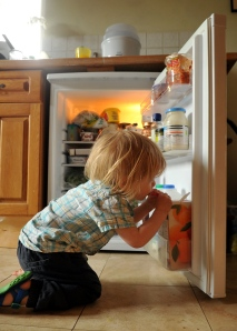 The wonders of a new floor level fridge.