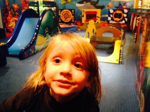 Ferry face, all at sea in the play area.
